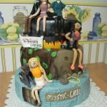 Vampire Diaries Inspired Cake
