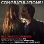 Congrats to TVD For Their 2015 Teen Choice Award Wins